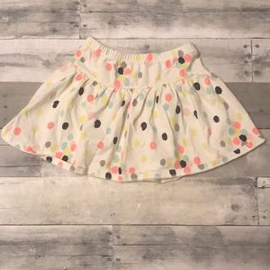 Girls Gymboree Colorful Dot Skirt Size 7